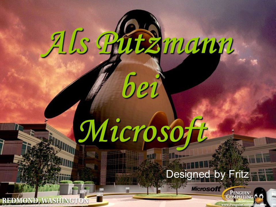 Als Putzmann bei Microsoft