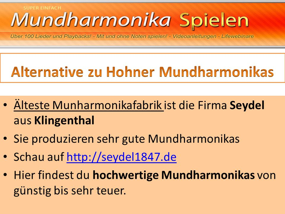 Alternative zu Hohner Mundharmonikas