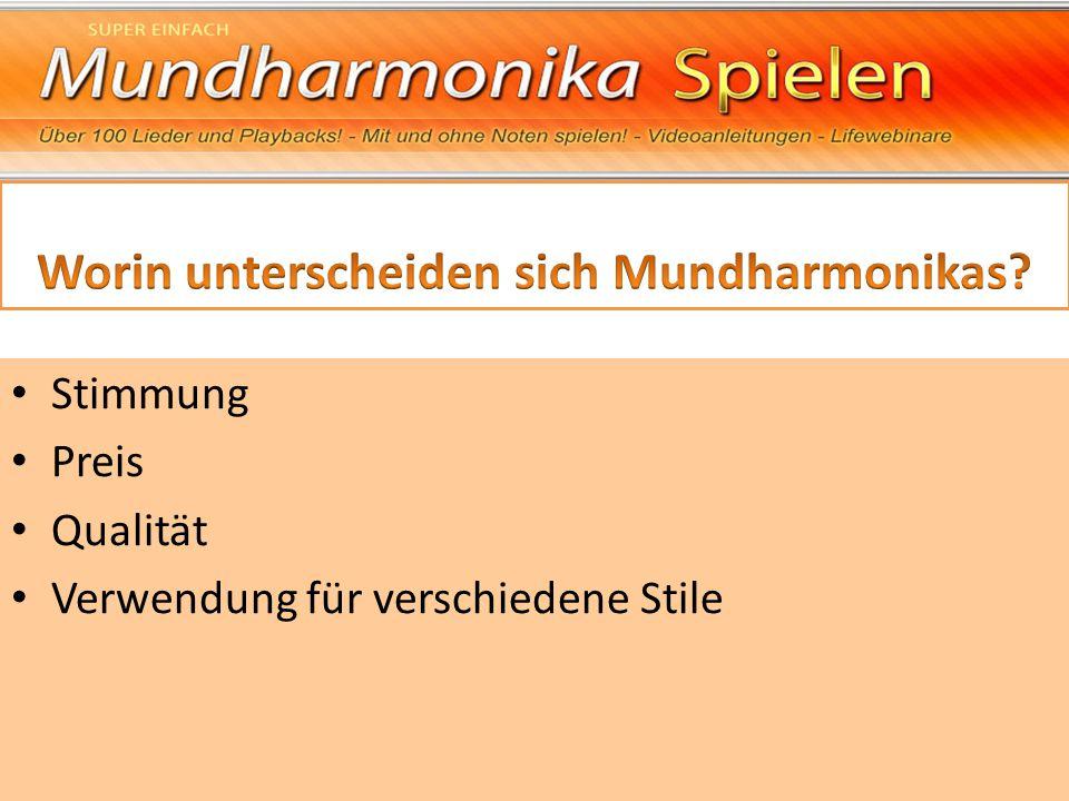 Worin unterscheiden sich Mundharmonikas