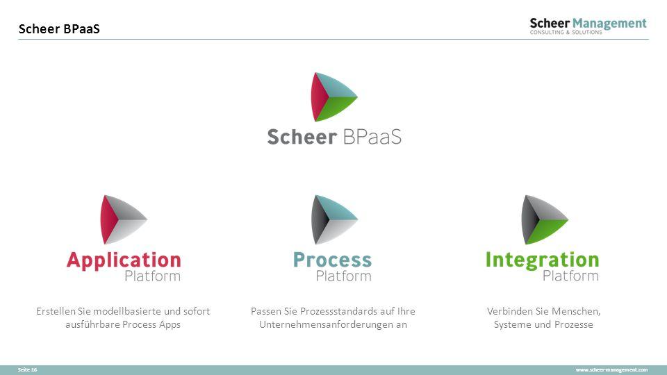 Scheer BPaaS Passen Sie Prozessstandards auf Ihre Unternehmensanforderungen an. Verbinden Sie Menschen, Systeme und Prozesse.