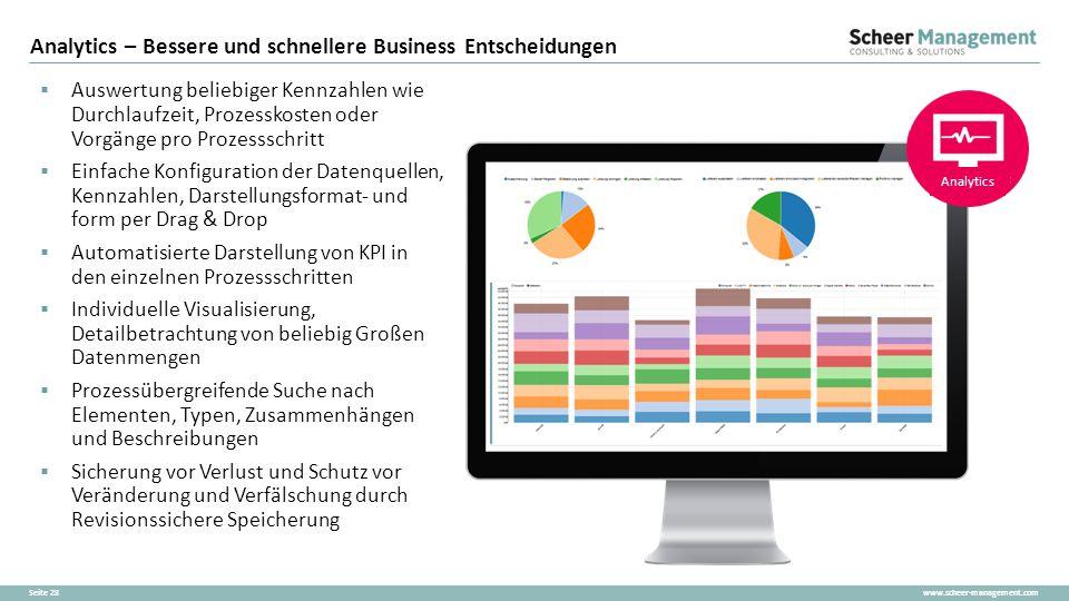 Analytics – Bessere und schnellere Business Entscheidungen