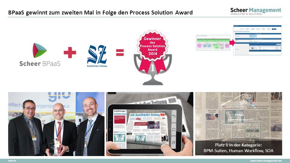 BPaaS gewinnt zum zweiten Mal in Folge den Process Solution Award