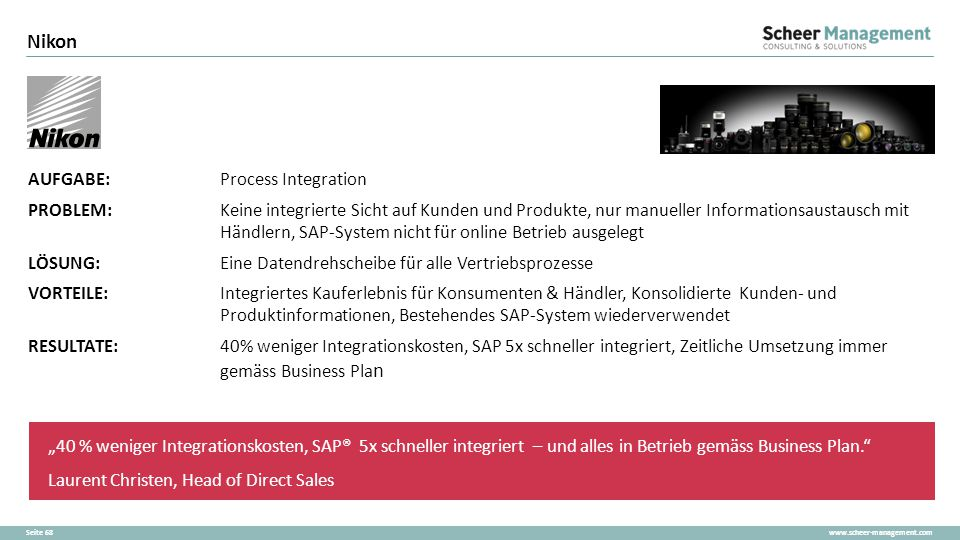Nikon AUFGABE: Process Integration