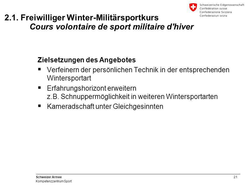 2.1. Freiwilliger Winter-Militärsportkurs