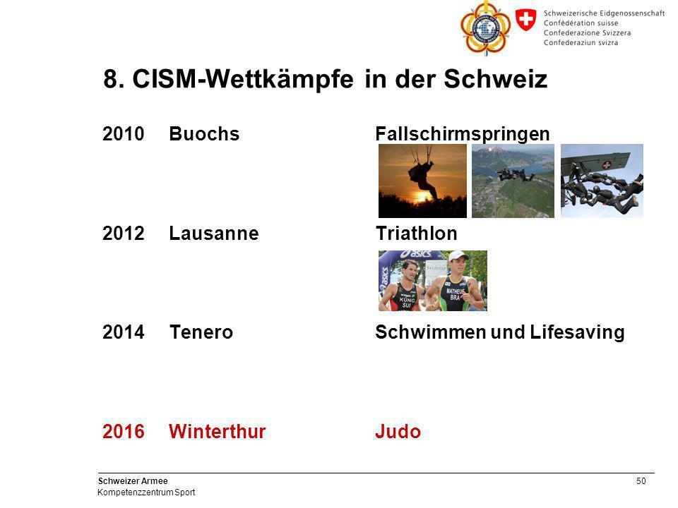 8. CISM-Wettkämpfe in der Schweiz