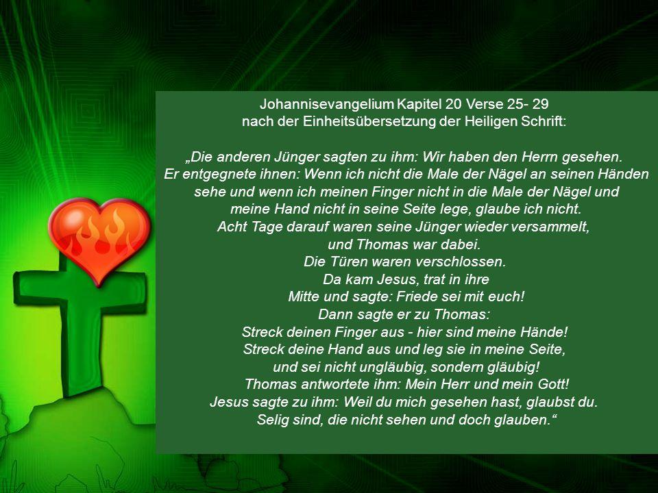 Johannisevangelium Kapitel 20 Verse 25- 29