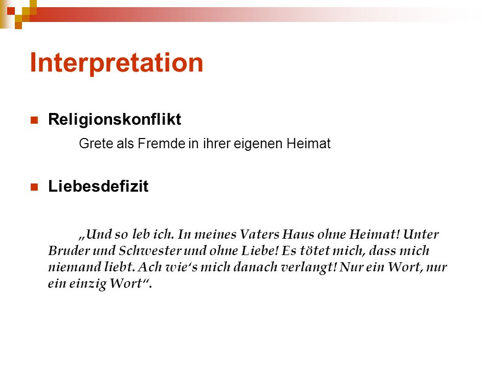 Interpretation Religionskonflikt