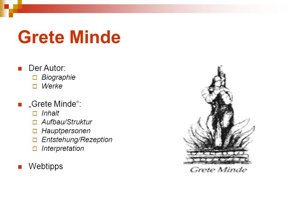 """Grete Minde Der Autor: """"Grete Minde : Webtipps Biographie Werke Inhalt"""