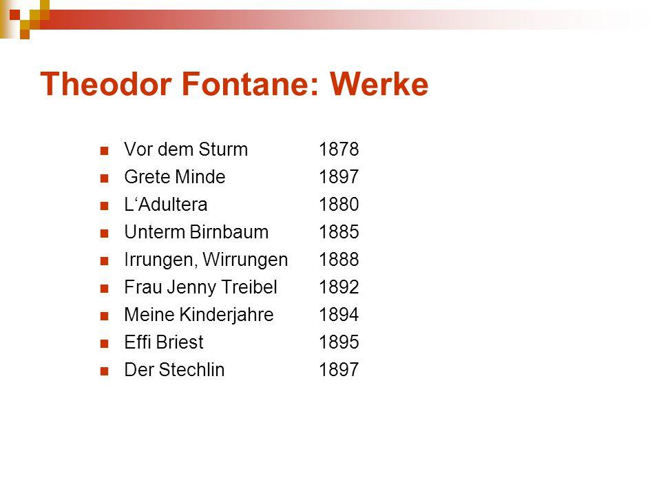 Theodor Fontane: Werke
