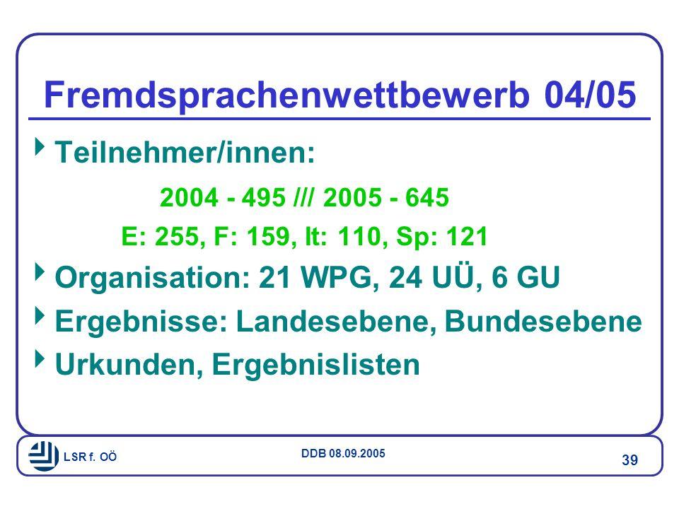 Fremdsprachenwettbewerb 04/05