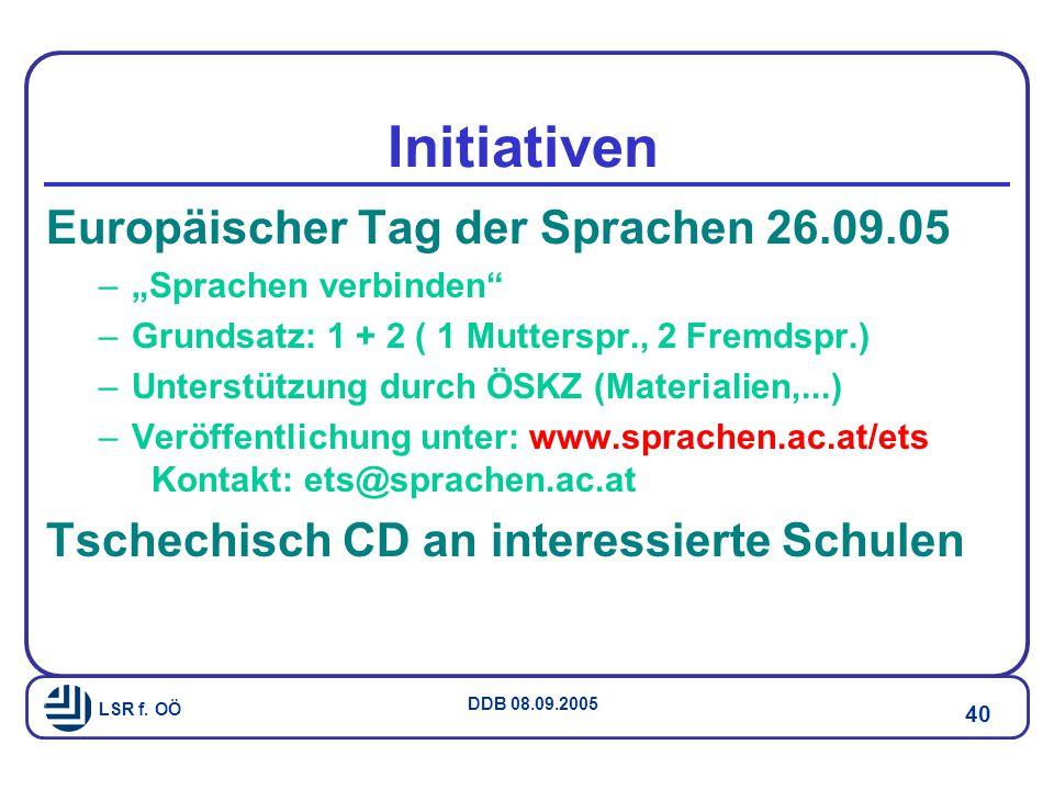 Initiativen Europäischer Tag der Sprachen 26.09.05