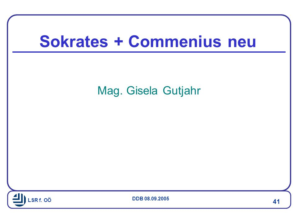 Sokrates + Commenius neu