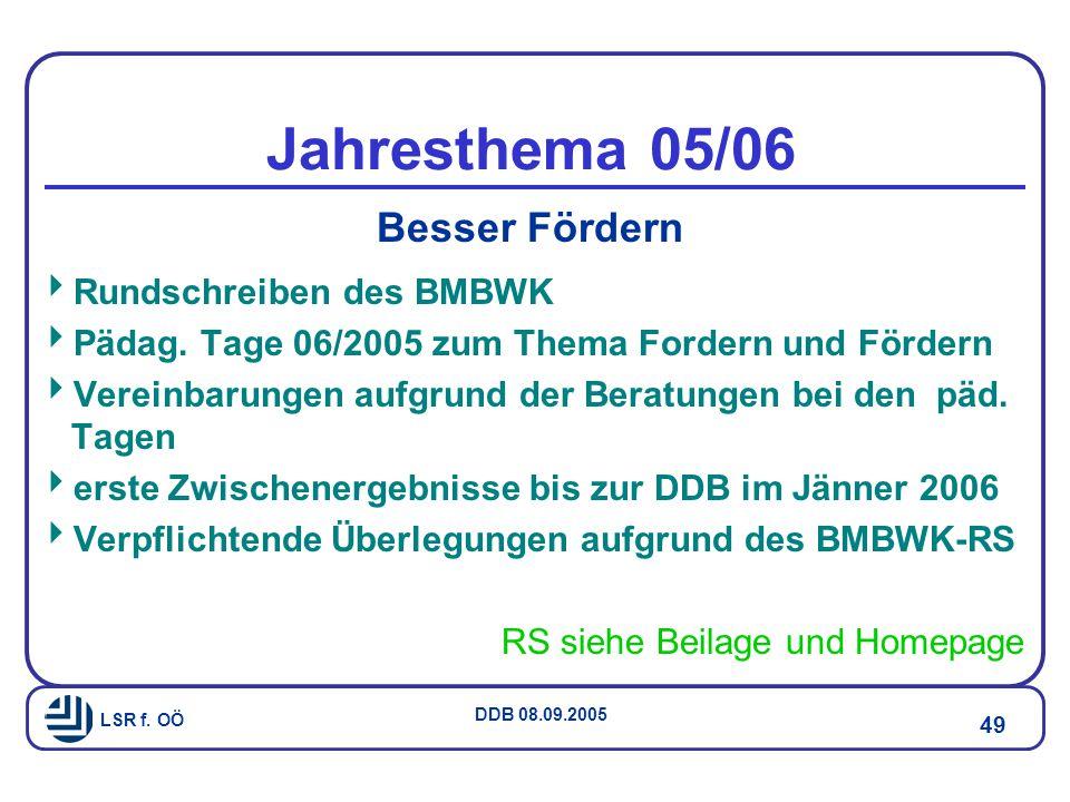 Jahresthema 05/06 Besser Fördern Rundschreiben des BMBWK