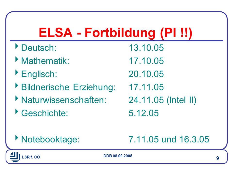 ELSA - Fortbildung (PI !!)