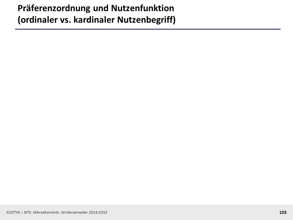 Präferenzordnung und Nutzenfunktion (ordinaler vs