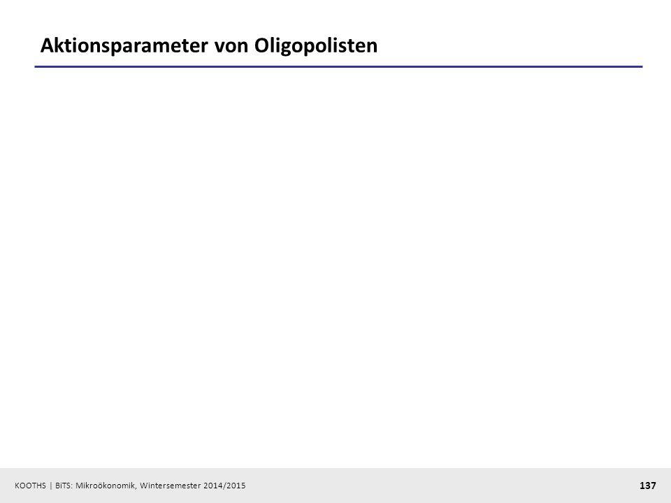 Aktionsparameter von Oligopolisten
