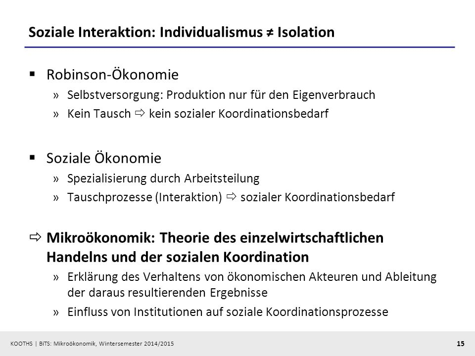 Soziale Interaktion: Individualismus ≠ Isolation