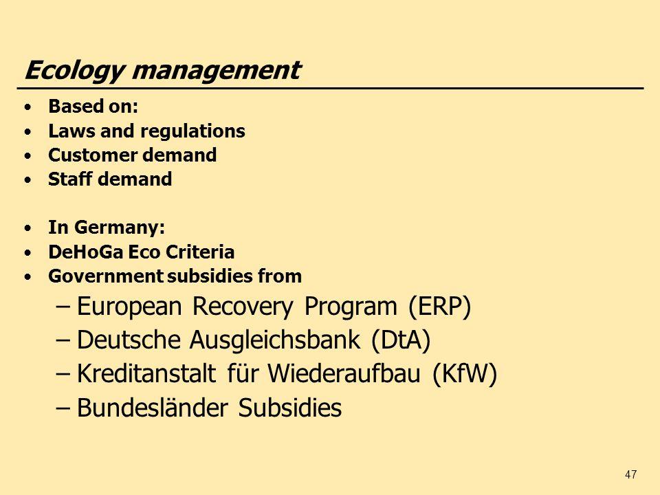European Recovery Program (ERP) Deutsche Ausgleichsbank (DtA)