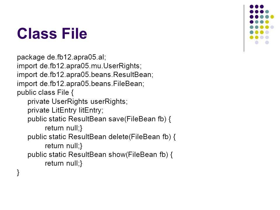 Class File package de.fb12.apra05.al;
