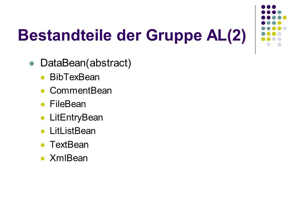 Bestandteile der Gruppe AL(2)
