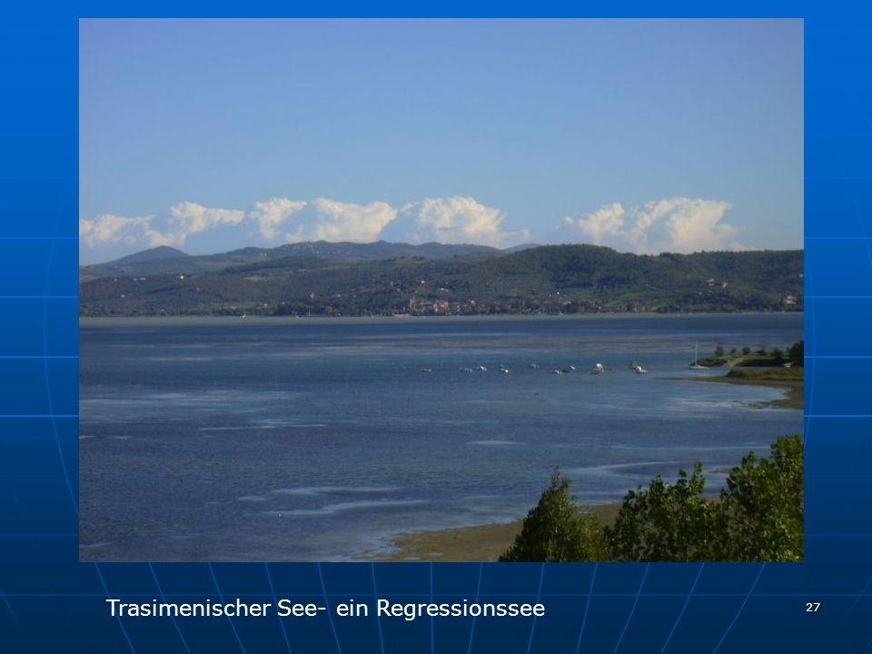 Trasimenischer See- ein Regressionssee