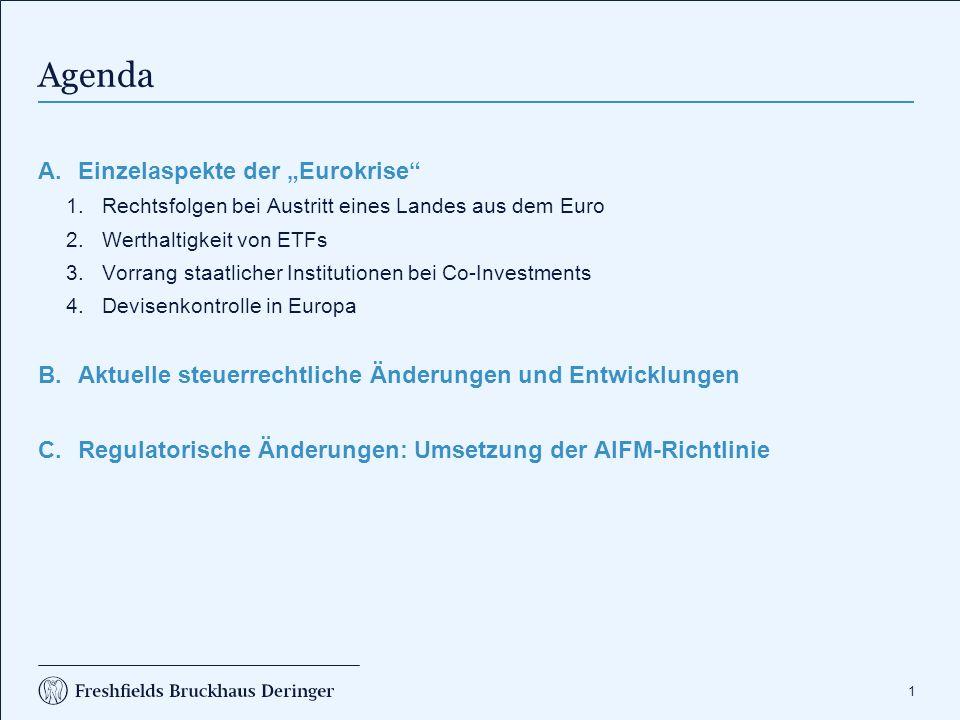"""""""Eurokrise - Auswirkungen auf Kapitalmarktinvestionen und -produkte"""
