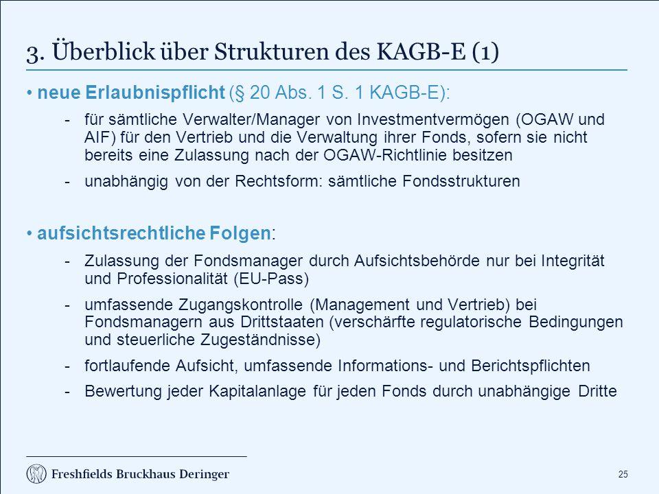 3. Überblick über Strukturen des KAGB-E (2)