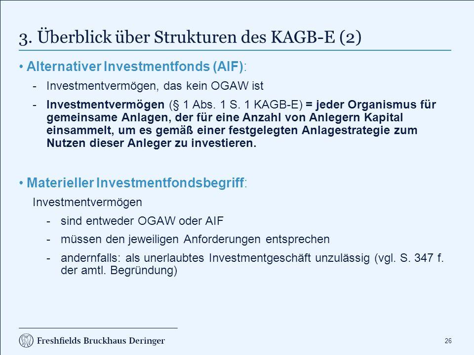 4. Anwendung des KAGB-E auf FOs (1)