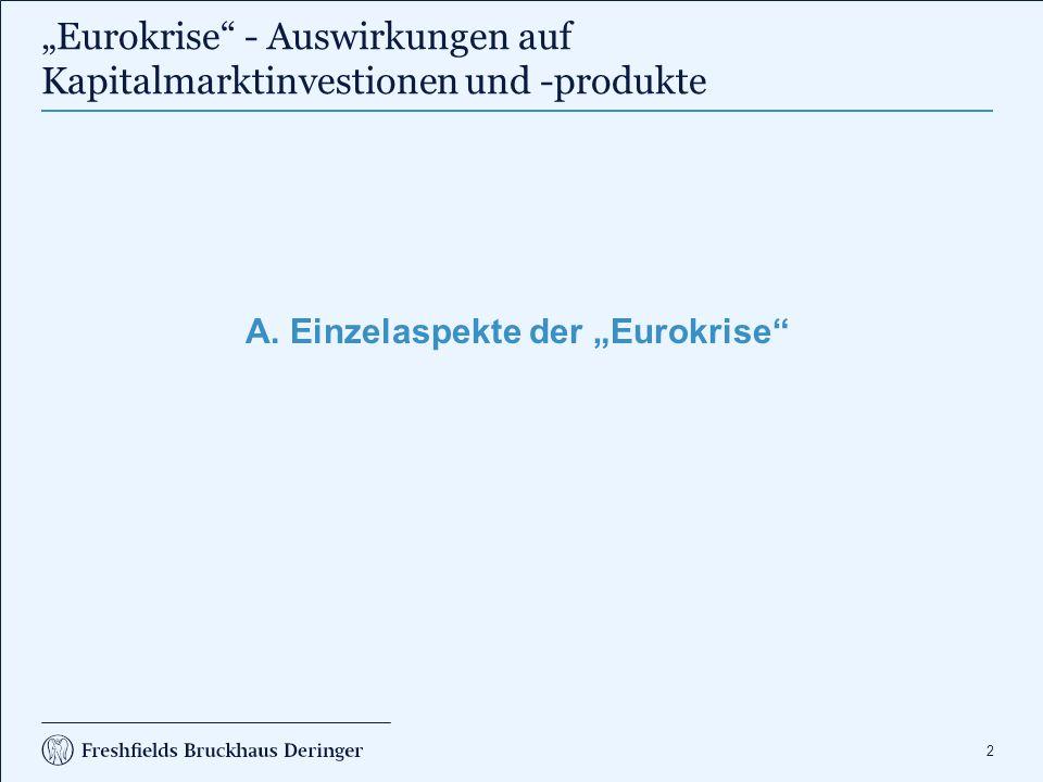 """A. Einzelaspekte der """"Eurokrise (1)"""