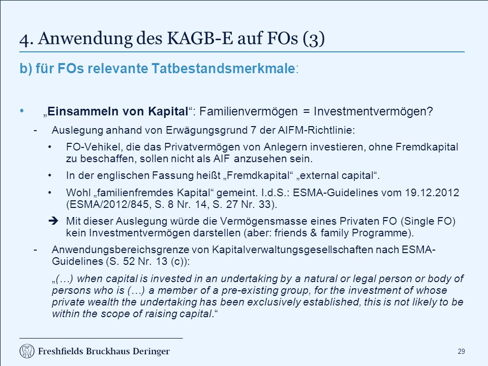 4. Anwendung des KAGB-E auf FOs (4)