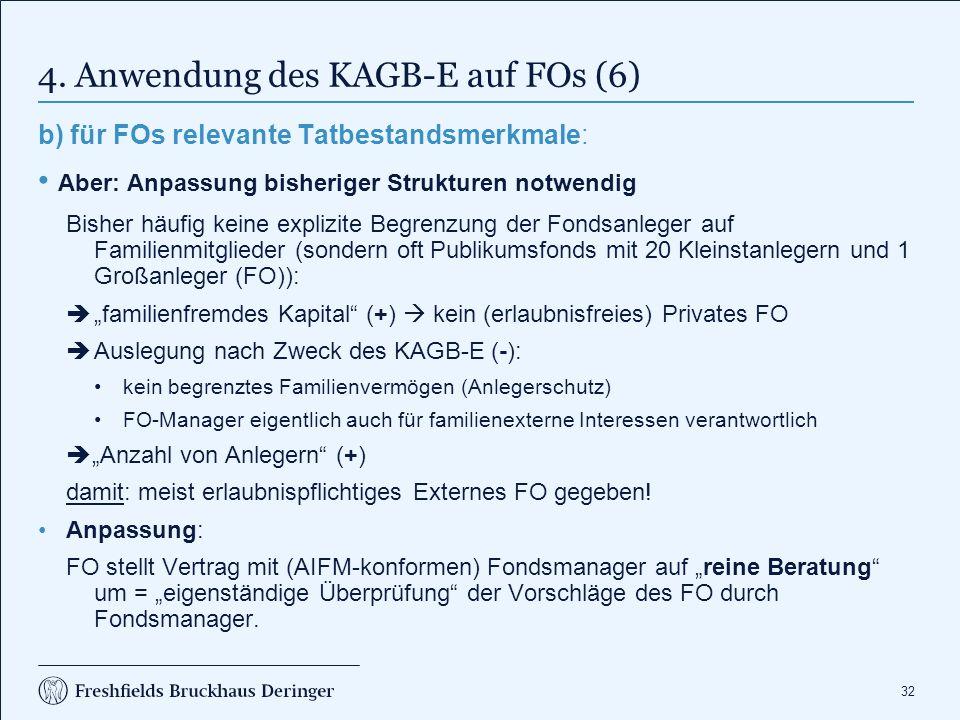4. Anwendung des KAGB-E auf FOs (7)