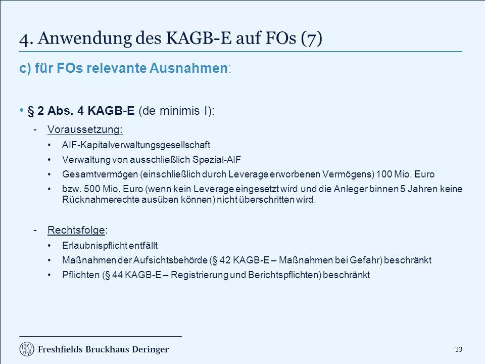 4. Anwendung des KAGB-E auf FOs (8)