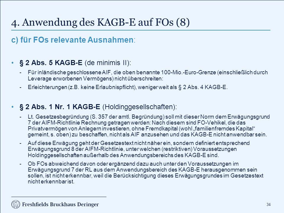 4. Anwendung des KAGB-E auf FOs (9)