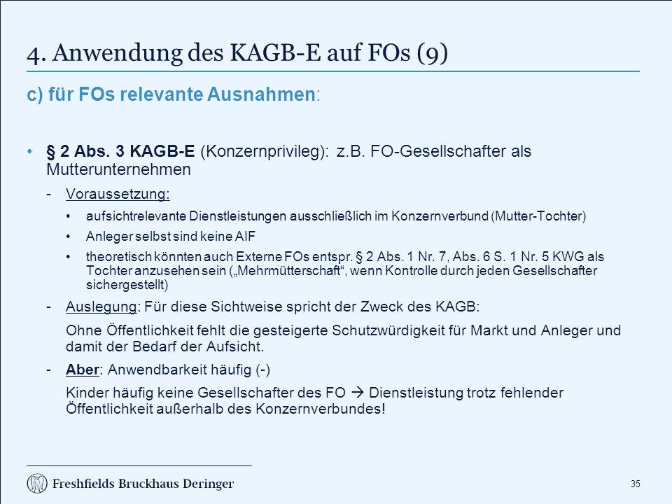 4. Anwendung des KAGB-E auf FOs (10)