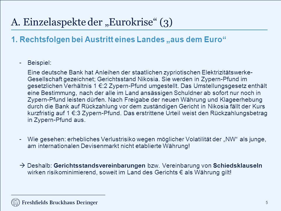 """A. Einzelaspekte der """"Eurokrise (4)"""