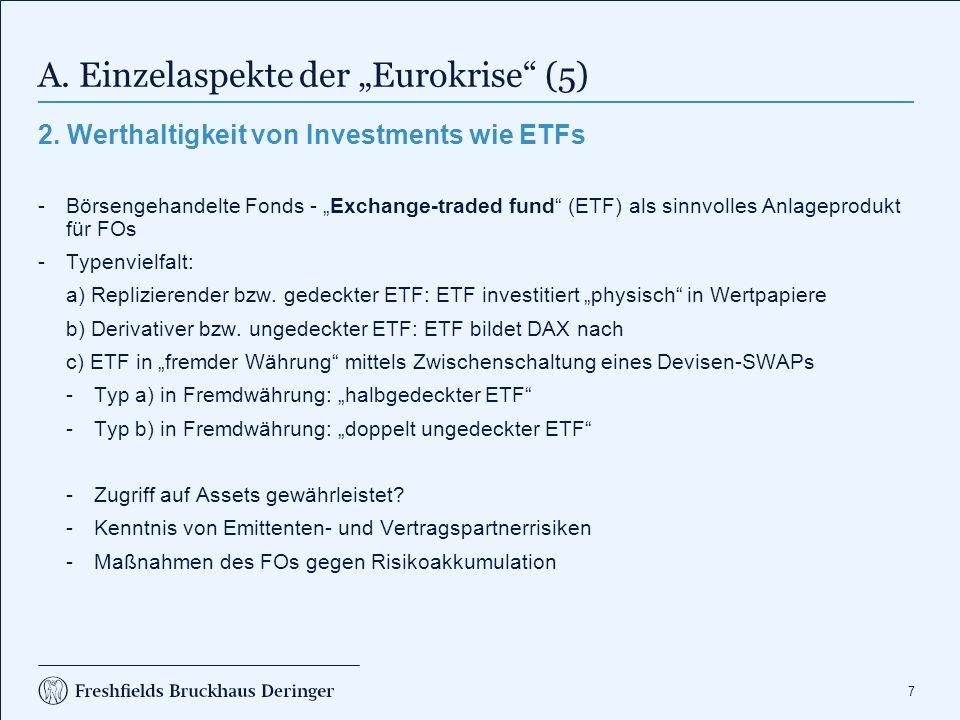 """A. Einzelaspekte der """"Eurokrise (6)"""