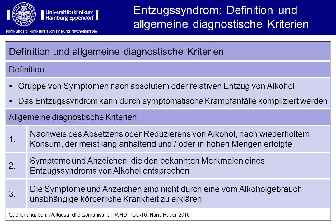 Entzugssyndrom: Definition und allgemeine diagnostische Kriterien