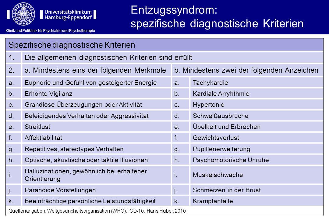 spezifische diagnostische Kriterien