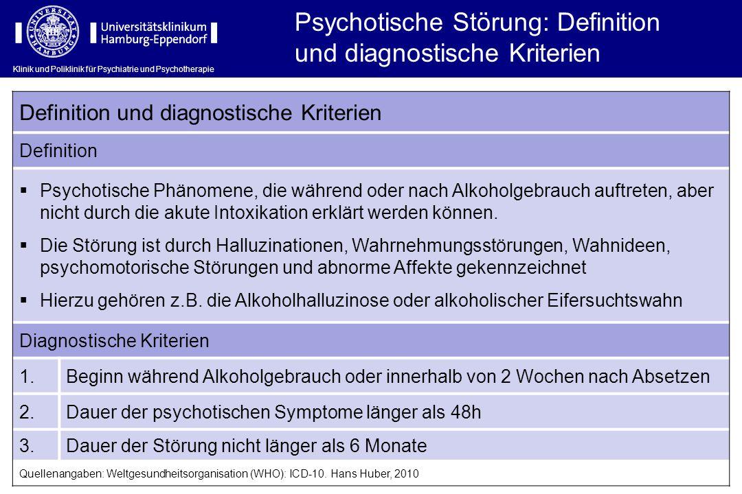 Psychotische Störung: Definition und diagnostische Kriterien
