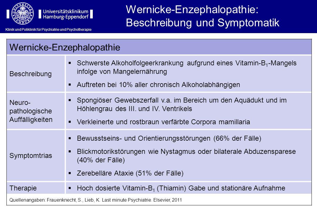 Wernicke-Enzephalopathie: Beschreibung und Symptomatik