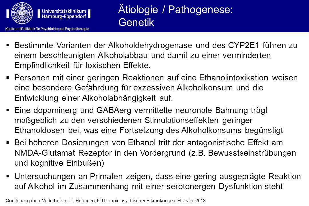 Ätiologie / Pathogenese: Genetik
