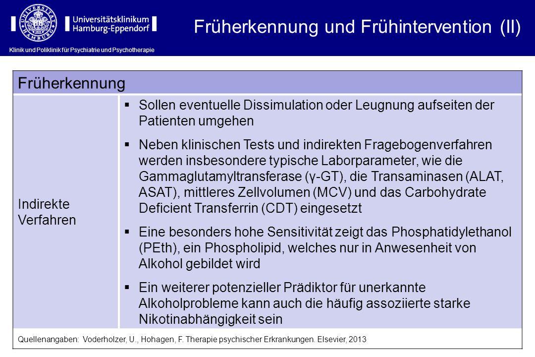 Früherkennung und Frühintervention (II)