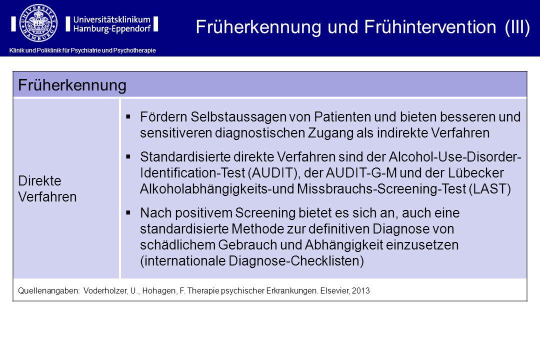 Früherkennung und Frühintervention (III)