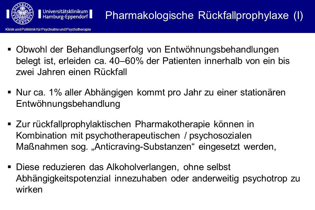 Pharmakologische Rückfallprophylaxe (I)