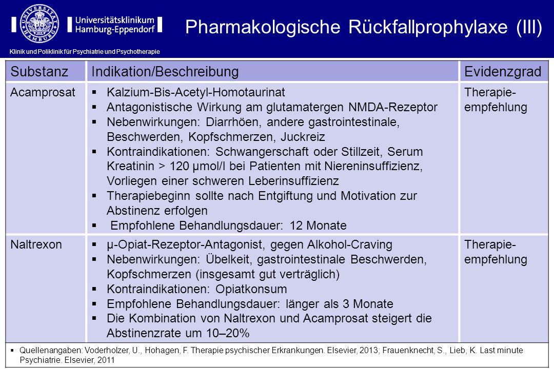 Pharmakologische Rückfallprophylaxe (III)