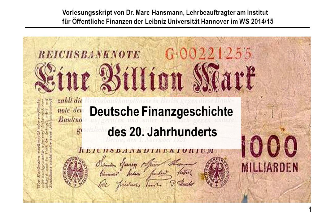 Deutsche Finanzgeschichte