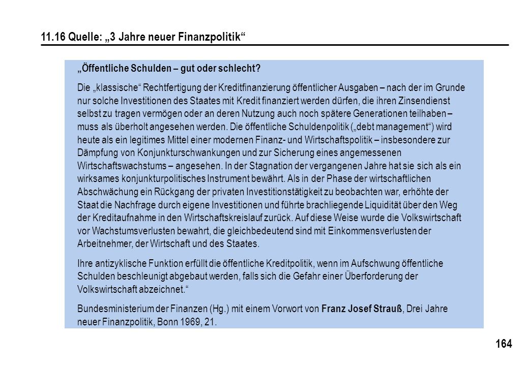 """11.16 Quelle: """"3 Jahre neuer Finanzpolitik"""