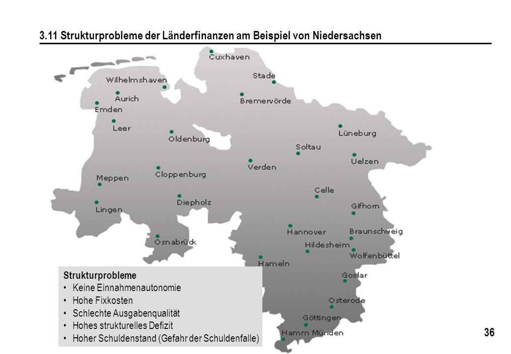 3.11 Strukturprobleme der Länderfinanzen am Beispiel von Niedersachsen