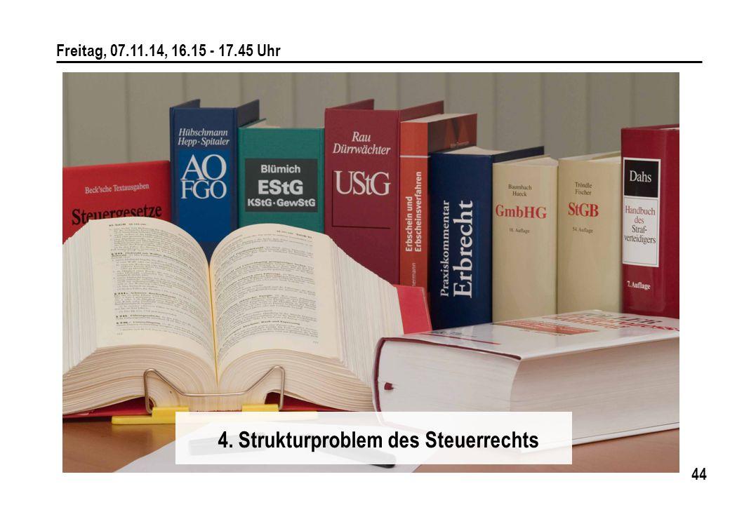 4. Strukturproblem des Steuerrechts
