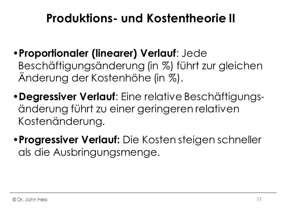 Produktions- und Kostentheorie II